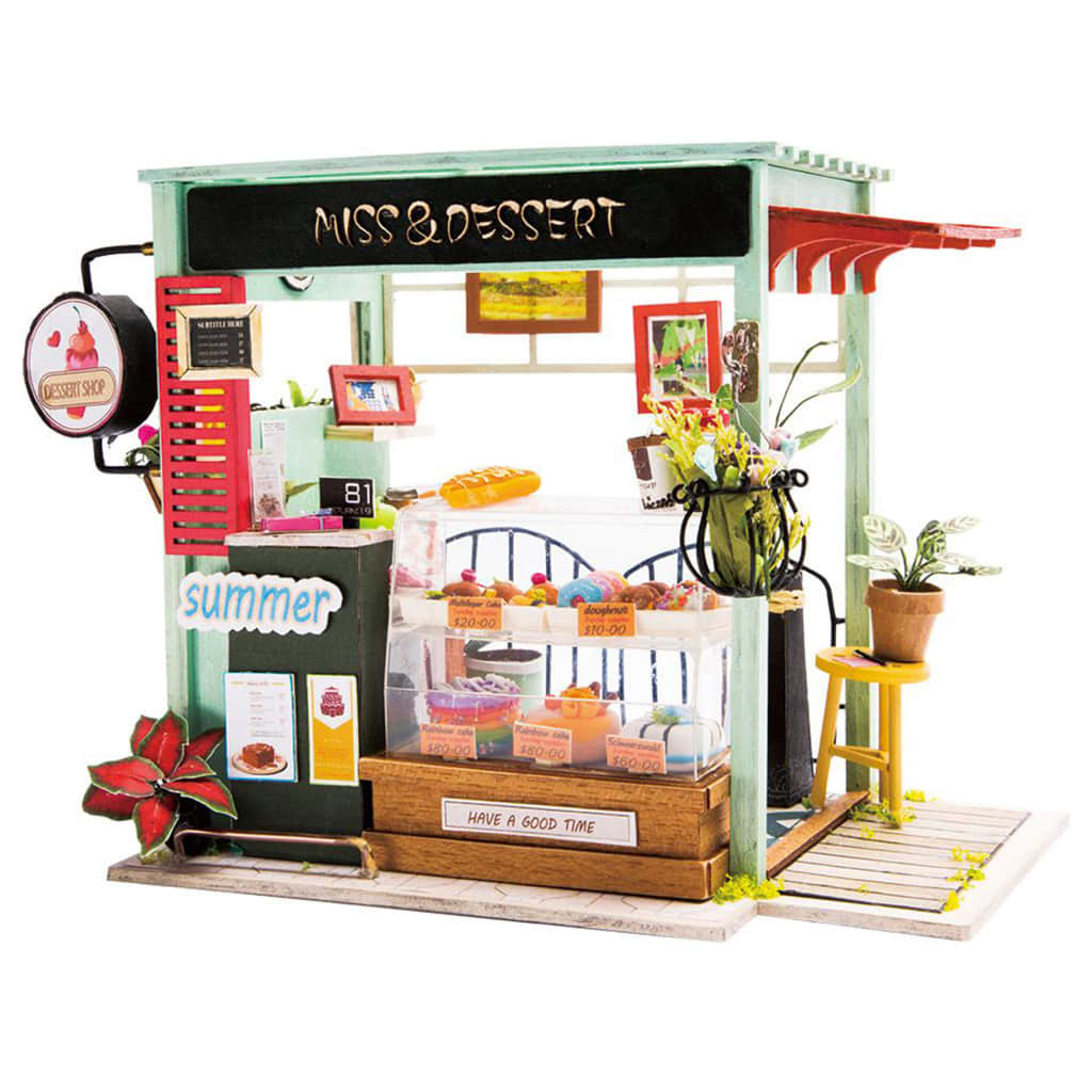 Robotime Kit in Miniatura Fai da Te Dessert Shop