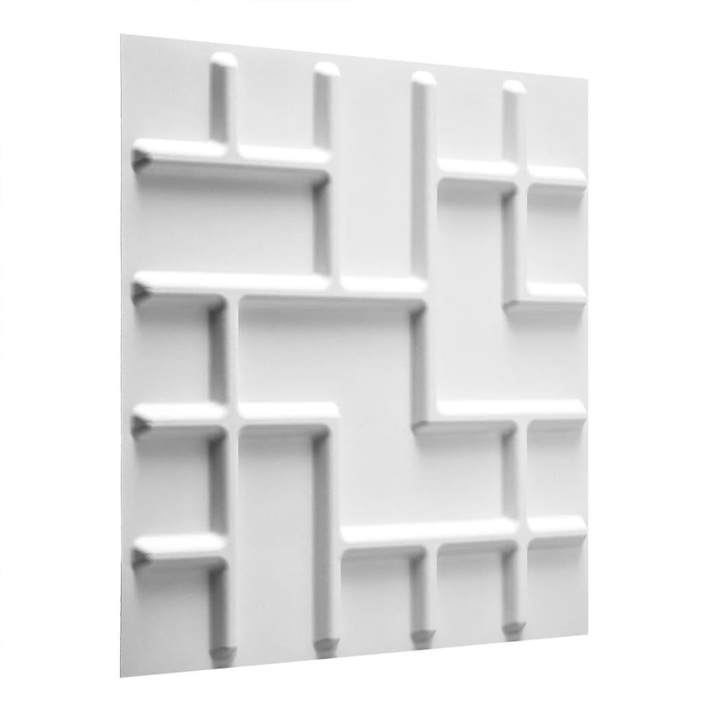 Afbeelding van WallArt 3D wand panelen Tetris 12 st GA-WA16