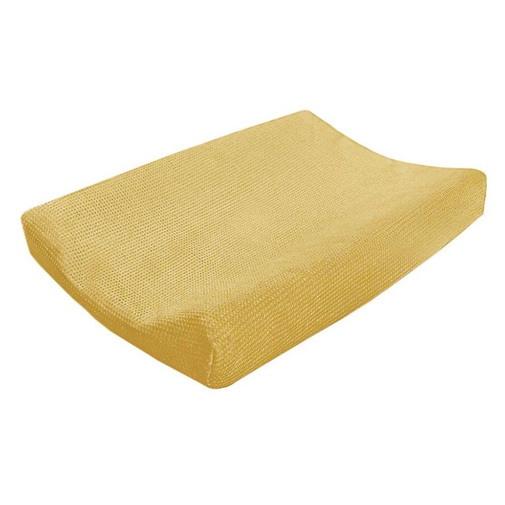 Afbeelding van Cottonbaby Aankleedkussenhoes wafel okergeel