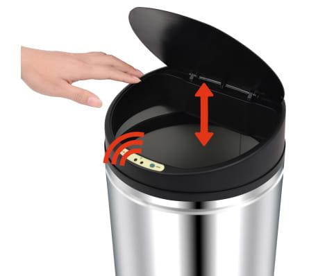 vidaXL Automatischer Sensor-Mülleimer 42 L Edelstahl[4/7]
