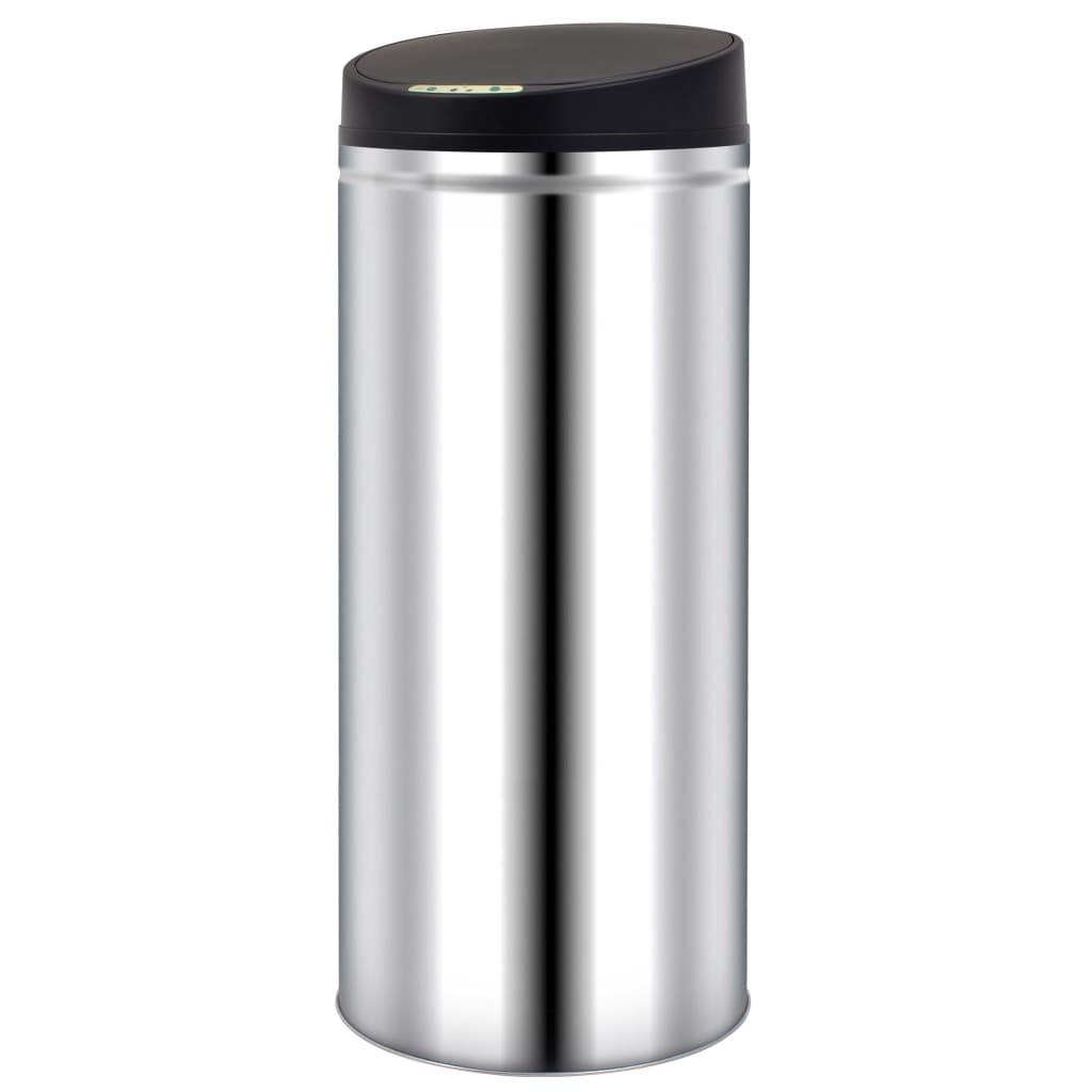 vidaXL Pubelă de gunoi cu senzor automat, 62 L, oțel inoxidabil vidaxl.ro
