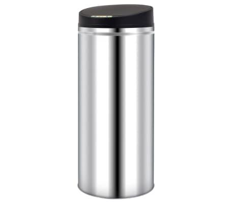 vidaXL Pubelă de gunoi cu senzor automat, 62 L, oțel inoxidabil[1/7]