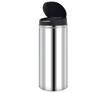 vidaXL Pubelă de gunoi cu senzor automat, 62 L, oțel inoxidabil[3/7]