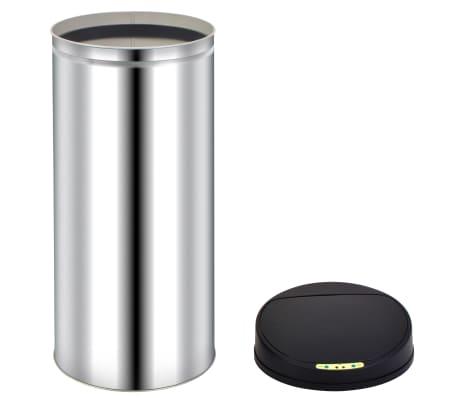 vidaXL Pubelă de gunoi cu senzor automat, 62 L, oțel inoxidabil[5/7]