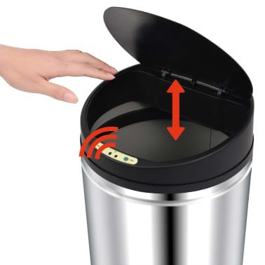 vidaXL Pubelă de gunoi cu senzor automat, 62 L, oțel inoxidabil[4/7]