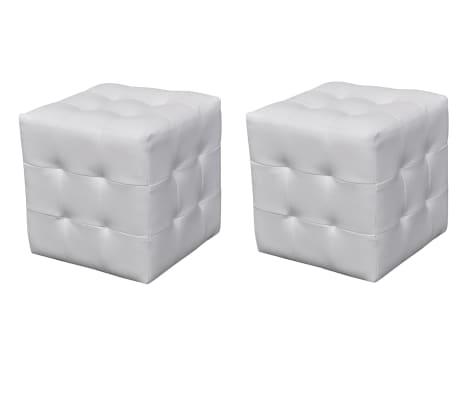 Set taburete cu formă cubică, Alb[1/4]