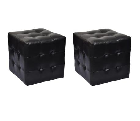 Hocker 30 x 30 cm zwart (2 stuks)