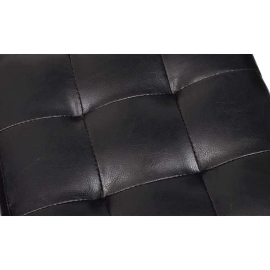 2 x Kocka / Stolček za Sedenje Črne Barve