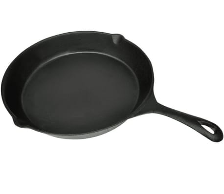 "XL BBQ Grill Fry Pan Cast Iron 12"" Round[3/3]"
