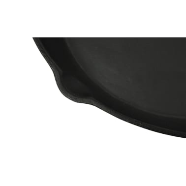 "XL BBQ Grill Fry Pan Cast Iron 12"" Round[2/3]"