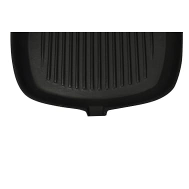 Cast Iron Grill Pan BBQ Skillet Wooden Handle[3/5]
