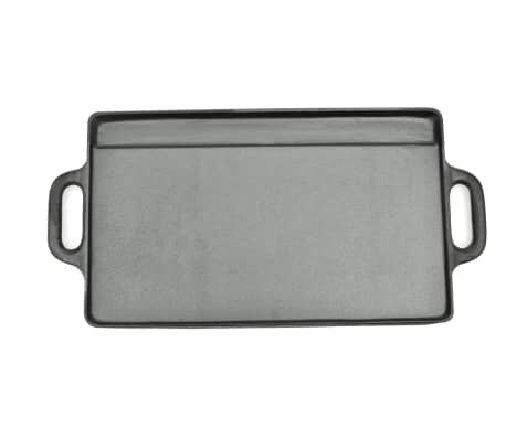 Grill BBQ Barbecue Plate Cast Iron Platter Reversible[2/4]