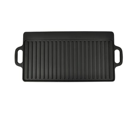 Grill BBQ Barbecue Plate Cast Iron Platter Reversible[3/4]