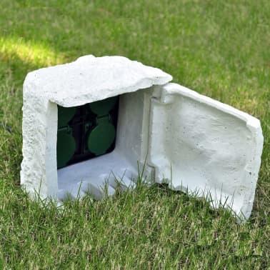 Soquete de jardim com 4 unidades e entalhas prova de água Branco[3/5]