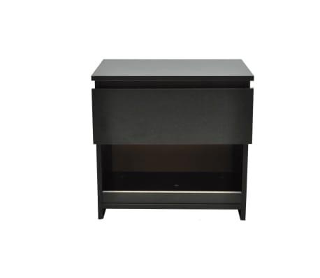 vidaXL Noptieră cu un sertar, negru, 2 buc.[3/6]