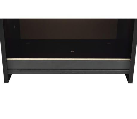 vidaXL Noptieră cu un sertar, negru, 2 buc.[5/6]