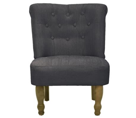 vidaxl franz sischer stuhl stoff grau g nstig kaufen. Black Bedroom Furniture Sets. Home Design Ideas