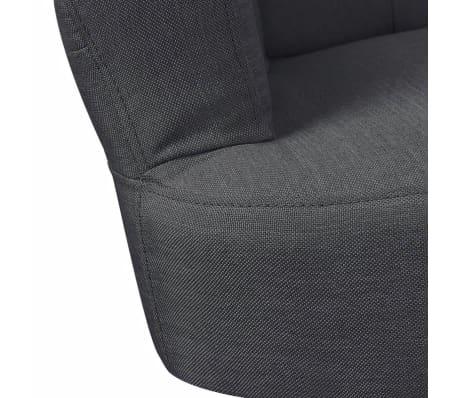 Vidaxl franz sischer stuhl mit armlehne stoff grau g nstig kaufen - Stuhl mit armlehne grau ...