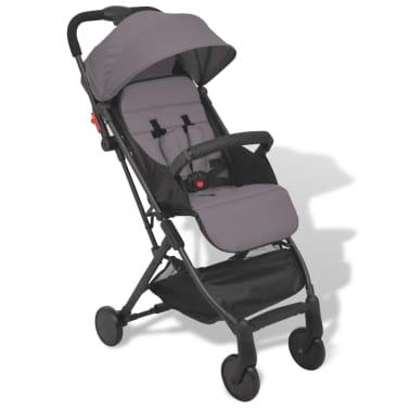 vidaXL Vaikiškas vežimėlis, pilkas, 89x47,5x104 cm[1/9]
