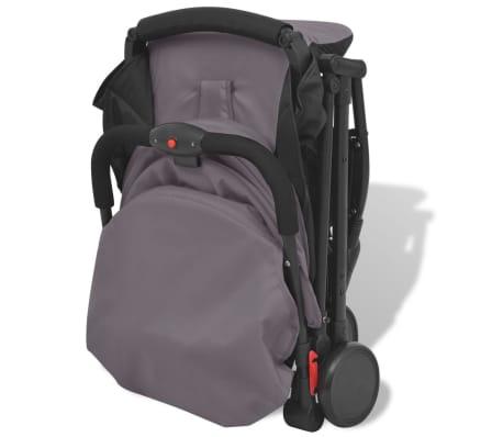 vidaXL Vaikiškas vežimėlis, pilkas, 89x47,5x104 cm[2/9]