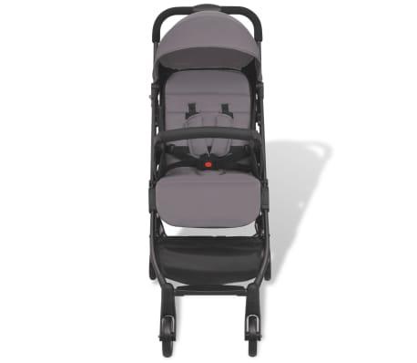 vidaXL Vaikiškas vežimėlis, pilkas, 89x47,5x104 cm[3/9]