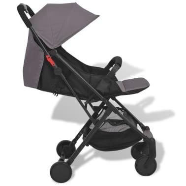vidaXL Vaikiškas vežimėlis, pilkas, 89x47,5x104 cm[4/9]