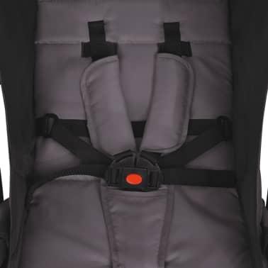 vidaXL Vaikiškas vežimėlis, pilkas, 89x47,5x104 cm[7/9]