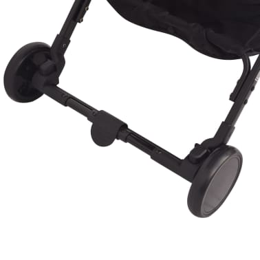 vidaXL Vaikiškas vežimėlis, pilkas, 89x47,5x104 cm[8/9]