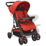 vidaXL Бебешка количка, червена, 102x52x100 см