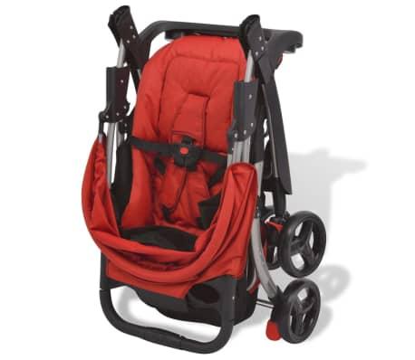 vidaXL Vaikiškas vežimėlis, raudonas, 102x52x100 cm[2/10]