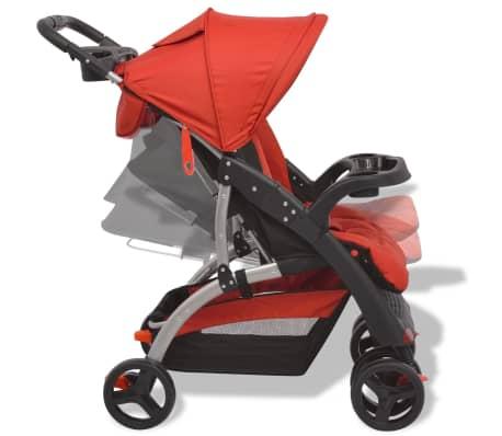vidaXL Vaikiškas vežimėlis, raudonas, 102x52x100 cm[4/10]