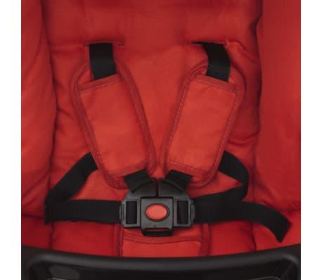 vidaXL Vaikiškas vežimėlis, raudonas, 102x52x100 cm[8/10]
