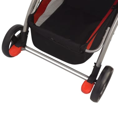 vidaXL Vaikiškas vežimėlis, raudonas, 102x52x100 cm[9/10]