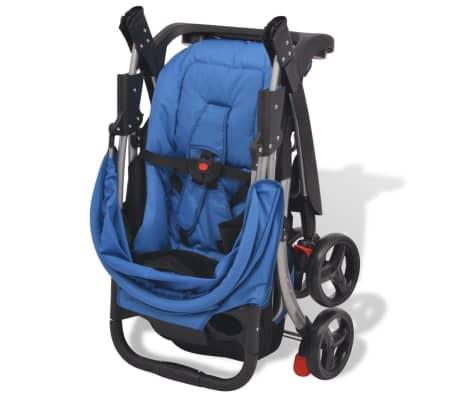 vidaXL Poussette Bleu 102 x 52 x 100 cm[2/10]