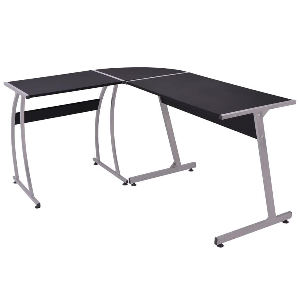 vidaXL Rohový kancelářský stůl ve tvaru L černý