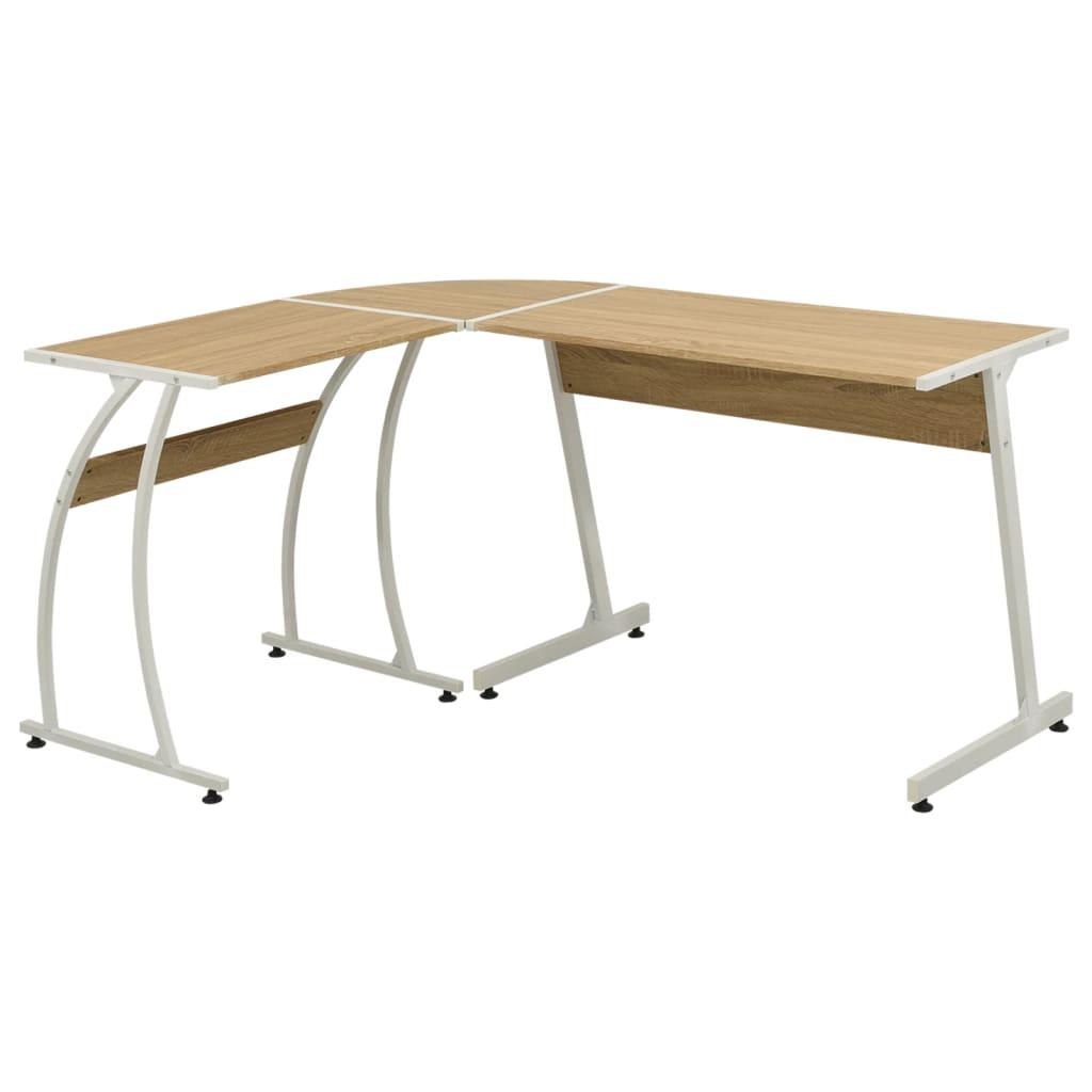 vidaXL Rohový kancelářský stůl ve tvaru L dub