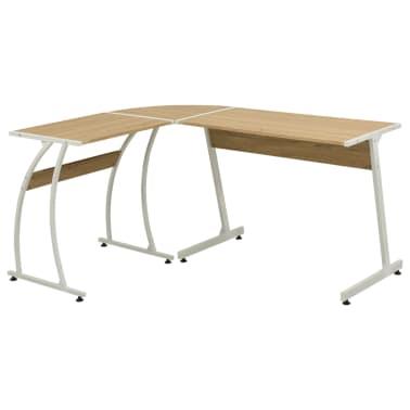 vidaXL Corner Desk L-Shaped Oak[1/5]