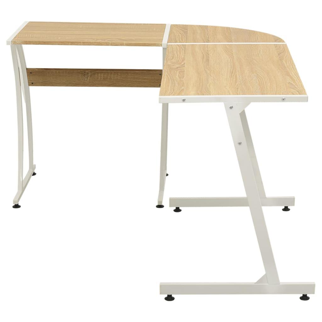 Rohový kancelářský stůl ve tvaru L dub