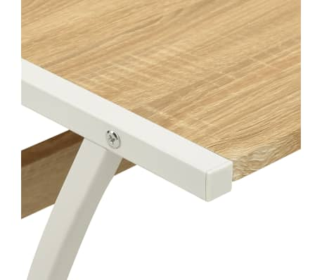 vidaXL Corner Desk L-Shaped Oak[5/5]
