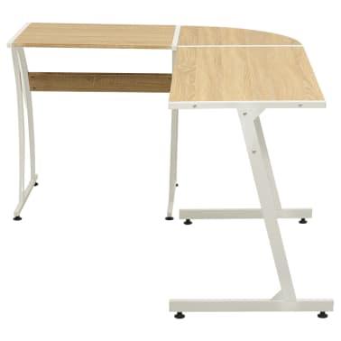 vidaXL Corner Desk L-Shaped Oak[2/5]