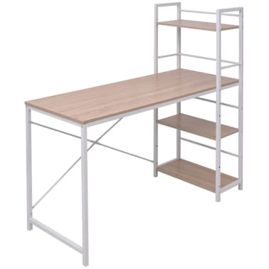 vidaxl bureau met boekenkast 4 laags eikenkleur15