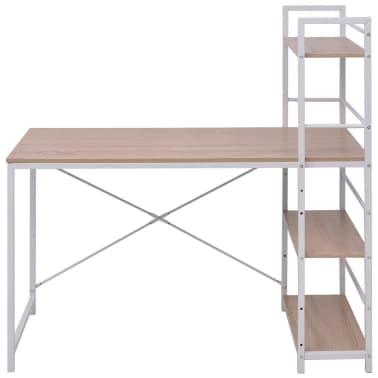 vidaxl schreibtisch mit b cherregal mit 4 b den eiche g nstig kaufen. Black Bedroom Furniture Sets. Home Design Ideas
