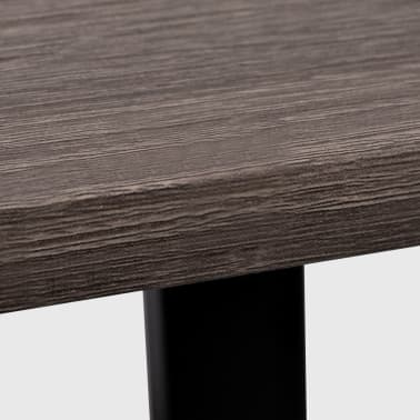 vidaXL Desk with 2 Shelves Gray and Oak[5/6]