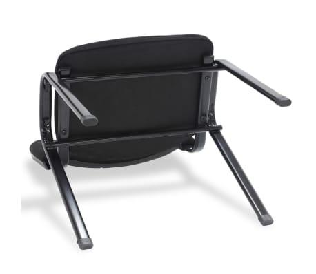 vidaXL Sukraunamos viena ant kitos biuro kėdės, 4 vnt., audinys, juod.[4/6]