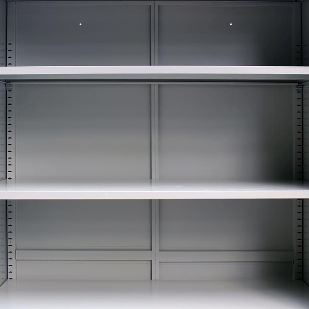 Skříň do kanceláře se 2 dvířky ocelová 90x40x180 cm šedá