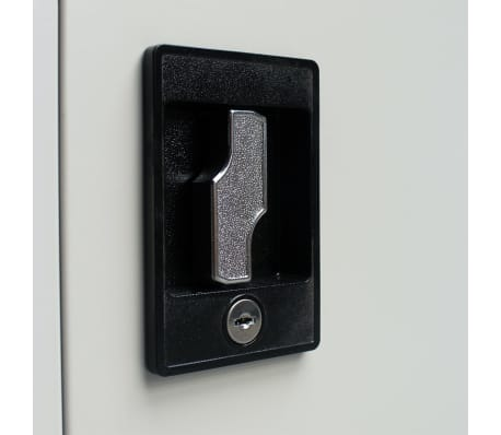 Vidaxl Office Filing Cabinet Locker 2 Door Steel File Organizer