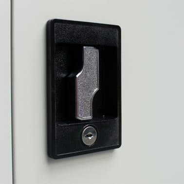 "vidaXL Office Cabinet with 2 Doors Steel 35.4""x15.7""x70.9"" Gray[7/10]"