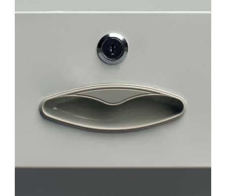acheter vidaxl armoire de bureau avec 4 portes acier 90 x 40 x 180 cm gris pas cher. Black Bedroom Furniture Sets. Home Design Ideas