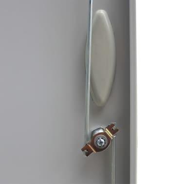 vidaXL Office Cabinet with 4 Doors Steel 90x40x180 cm Grey[6/10]