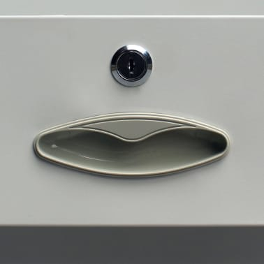 vidaXL Office Cabinet with 4 Doors Steel 90x40x180 cm Grey[7/10]